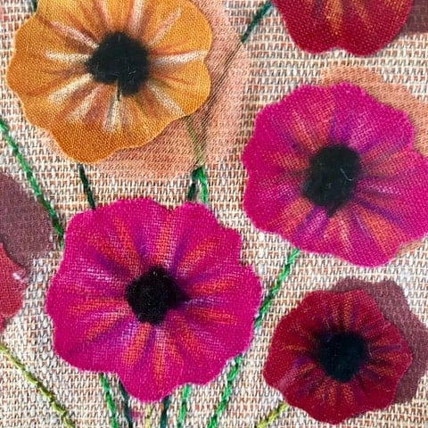 Potted Poppies Detail By Rosemary McCall